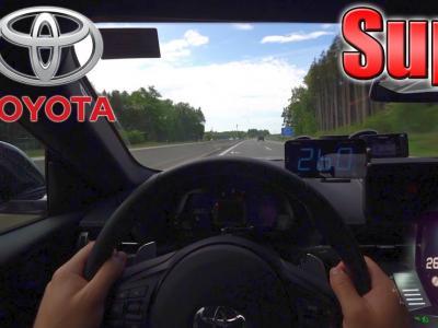 La Toyota Supra GR poussée à 260 km/h sur l'autoroute