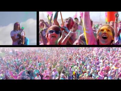La course pour rire en couleurs