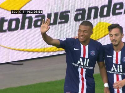 Amical : l'ouverture du score de Mbappé contre Dresde