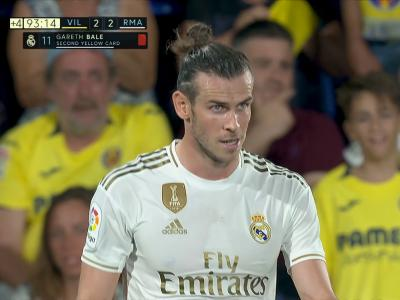 Villarreal - Real Madrid : le carton rouge de Gareth Bale