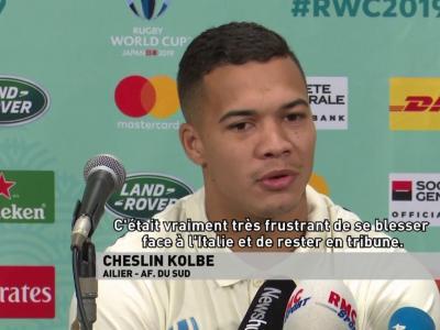 Les confidences de Cheslin Kolbe avant la finale face à l'Angleterre