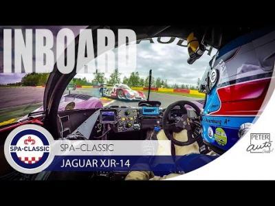 Group C Jaguar XJR14 inboard amazing sound