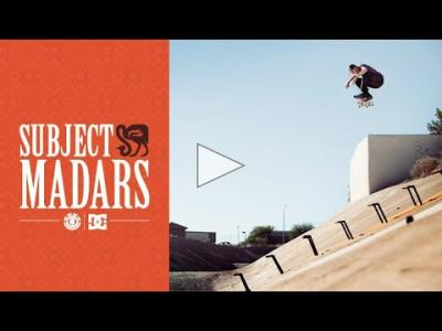 Madars Abside en pleine session de skate