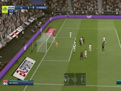 Olympique Lyonnais - AS Monaco sur FIFA 20 : résumé et buts (L1 - 34e journée)