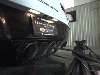 Une Corvette de près de 1 000 ch passe sur un banc de puissance