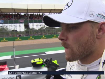 GP de Grande-Bretagne de F1 : la réaction de Valtteri Bottas après sa pole position