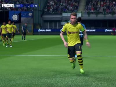 Inter Milan - Borussia Dortmund sur FIFA 20 : buts et résumé du match