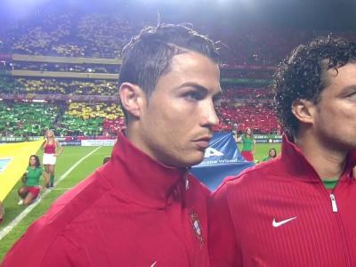 Cristiano Ronaldo face à la Suède