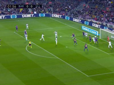 Barça - Valladolid : L'ouverture du score de Clément Lenglet !