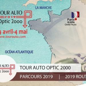 Tour Auto 2019 : le parcours