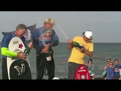 Du kitesurf entre l'Allemagne et le Danemark