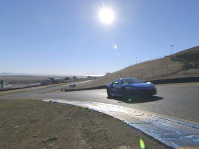 La Honda NSX à l'attaque sur le circuit de Sonoma