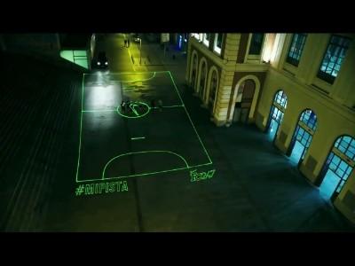 Un terrain de football magique