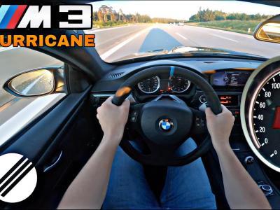 """Une BMW M3 E92 """"Infinitas Hurricane"""" est poussée à 340 km/h sur une Autobahn illimitée"""