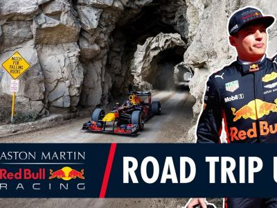 On the Road Again : le road trip de Max Verstappen au volant de sa F1 Red Bull