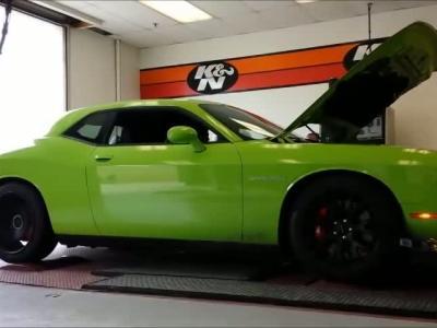 La Dodge Challenger SRT Hellcat lache les chevaux sur un banc de puissance !