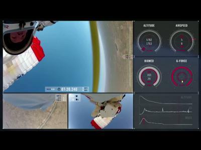 Le saut de Félix Baumgartner en caméra embarquée