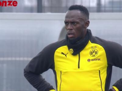 Quand Usain Bolt met un petit pont à l'entraînement avec Dortmund