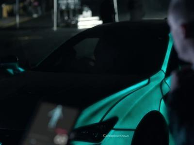 Une Lexus RC F se transforme en électrocardiographe géant