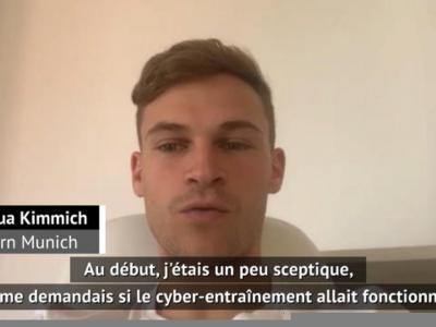 """Bayern - Kimmich : """"Le cyber-entraînement ? Nous suons beaucoup"""""""