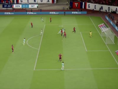 Genoa CFC - Inter Milan sur FIFA 20 : résumé et buts (Serie A - 36e journée)