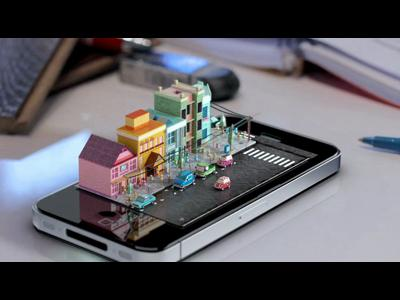 iPhone Diorama par Michael Ko