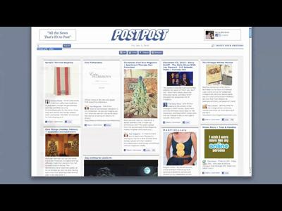 PostPost transforme Facebook en magazine