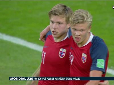 Coupe du Monde U20 : les 9 buts de Erling Haaland contre le Honduras en vidéo