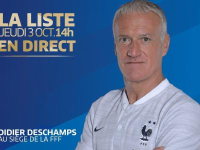 L'annonce de la liste de Didier Deschamps en direct (14h)