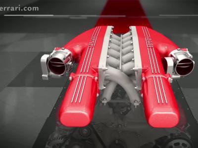 Zoom sur le moteur V12 de la Ferrari F12 TDF
