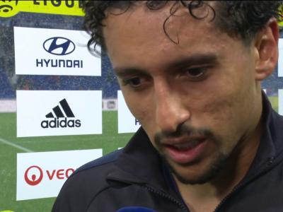 """OL - PSG : """"Notre crack nous a sauvés"""", la réaction de Marquinhos en vidéo"""