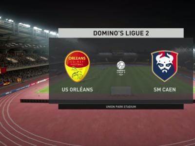US Orléans - Stade Malherbe de Caen sur FIFA 20 : résumé et buts (L2 - 31e journée)