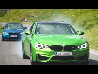 La gamme BMW M s'amuse sur la plus belle route du monde