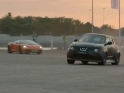 Le Nissan JUKE-R en course de rue à Dubaï