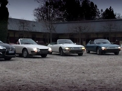 Séance photo avec la DS3 Cabrio et voitures Citroën de collection