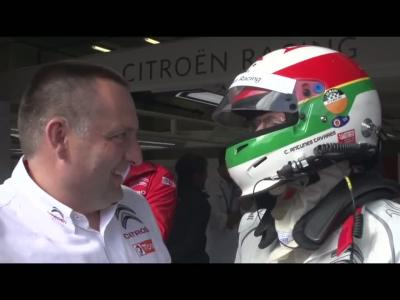 Carlos Tavares essaie la Citroën C-Elysée de Sébastien Loeb