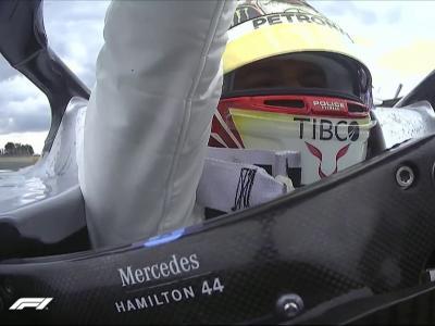 Grand Prix de Grande-Bretagne de F1 : la joie de Lewis Hamilton après sa victoire