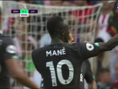 Southampton - Liverpool : la magnifique ouverture du score de Mané !