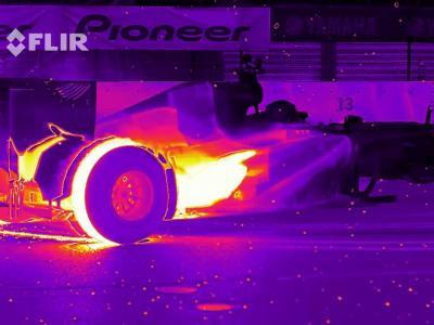 Une F1 soumise à l'épreuve de la caméra thermique