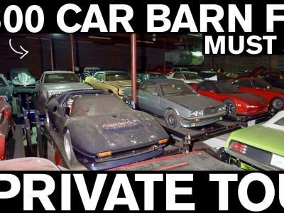 Une collection en sortie de grange de plus de 300 voitures (vidéo)