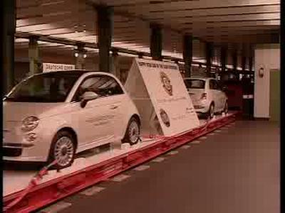 La Fiat 500 prend le metro de Berlin