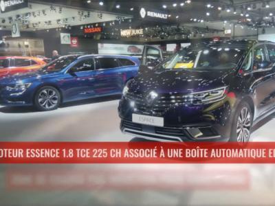 Renault Espace restylé : le monospace au Brussels Motor Show 2020