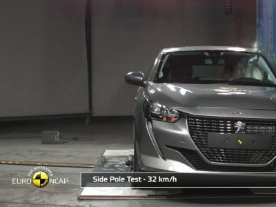 Peugeot 208 : le crash test Euro Ncap en vidéo