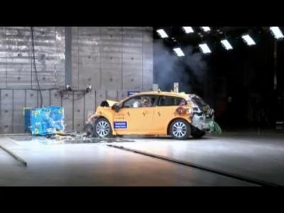 Crash test Volvo C30 électrique