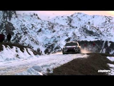 Deux sorties de pistes pour Sébastien Loeb lors des préparatifs du Monte-Carlo