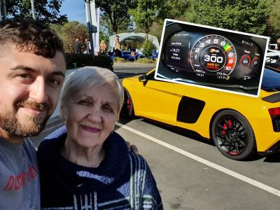 Une mamie de 80 ans à 300 km/h en Audi R8 sur le Nürburgring