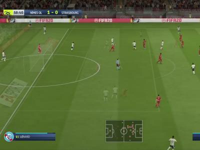 Nîmes Olympique - RC Strasbourg sur FIFA 20 : résumé et buts (L1 - 36e journée)