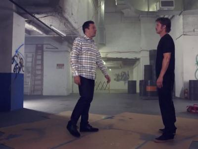 Jimmy Fallon et Brad Pitt