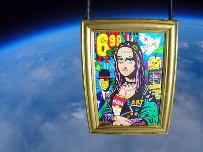 Mona Lisa Punk par Jisbar : First Painting in Space