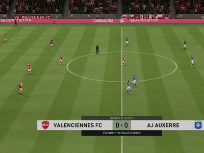 Valenciennes FC - AJ Auxerre sur FIFA 20 : résumé et buts (L2 - 35e journée)
